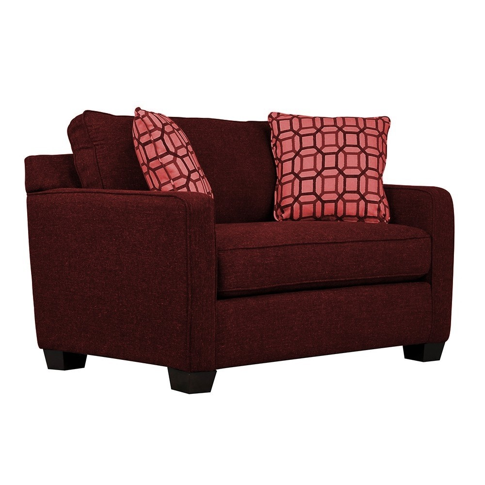 Oslo One  Seater Sofa Red