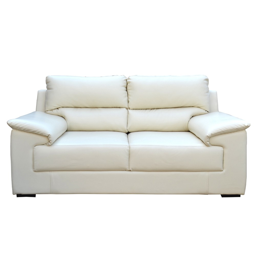 Glamour Two Seater Sofa White