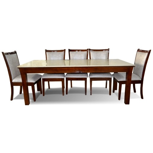 Marina 8 Seater Dining Table With Marble Top