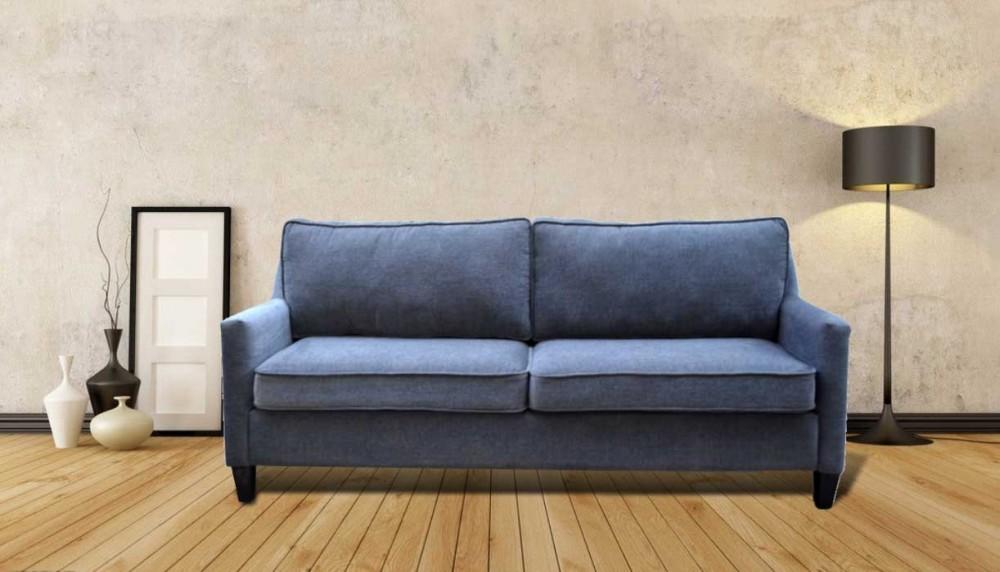 Allure Three Seater Sofa Blue