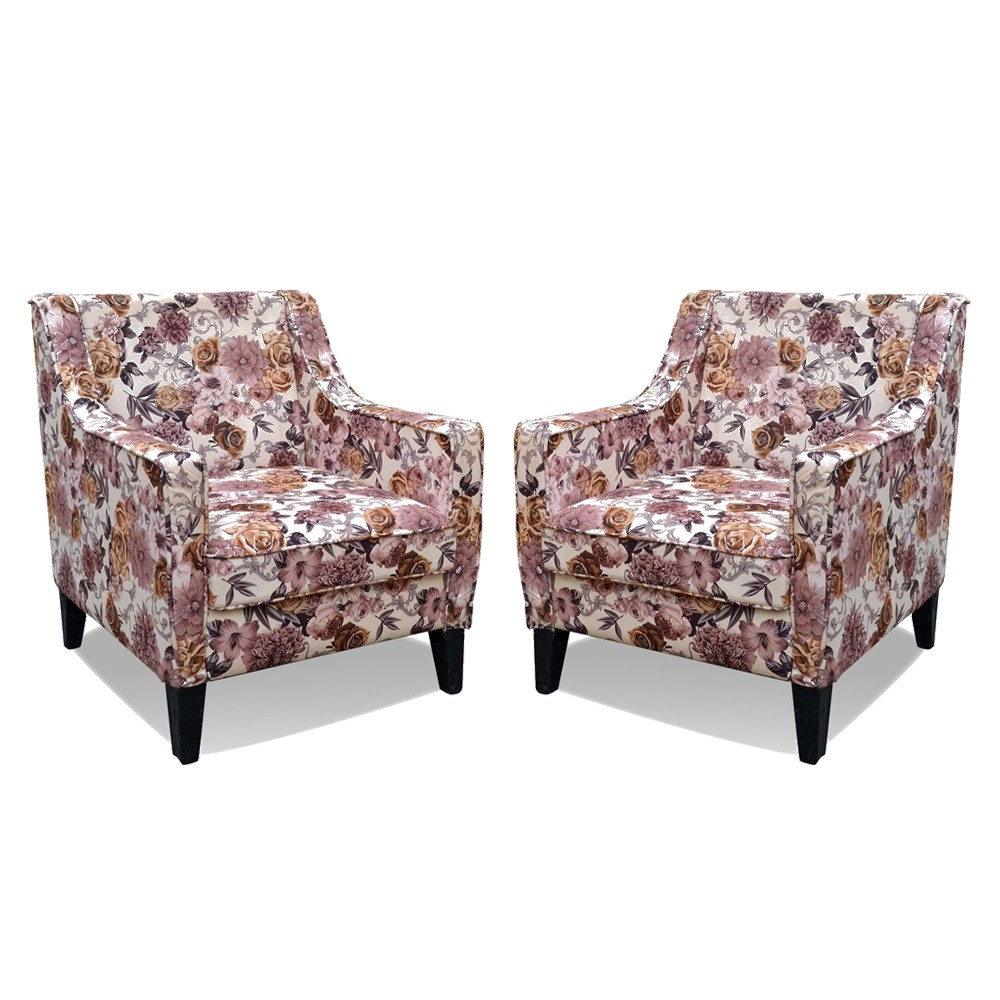 Battista Armchair Printed Two Set