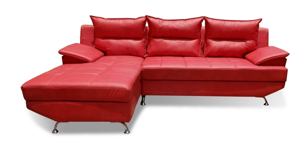 Berlin Sectional Sofa with Chaise Red