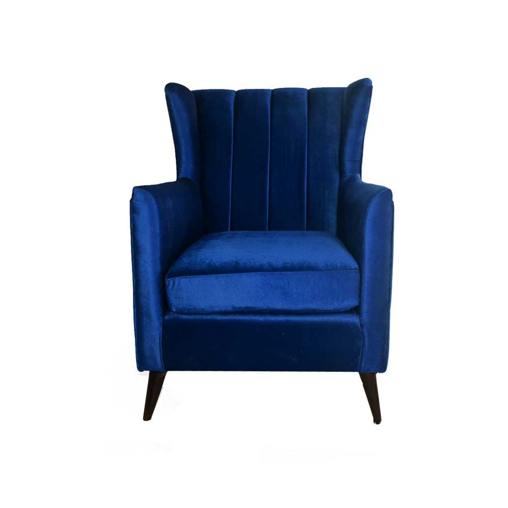 Betty Wing Chair Ink Blue