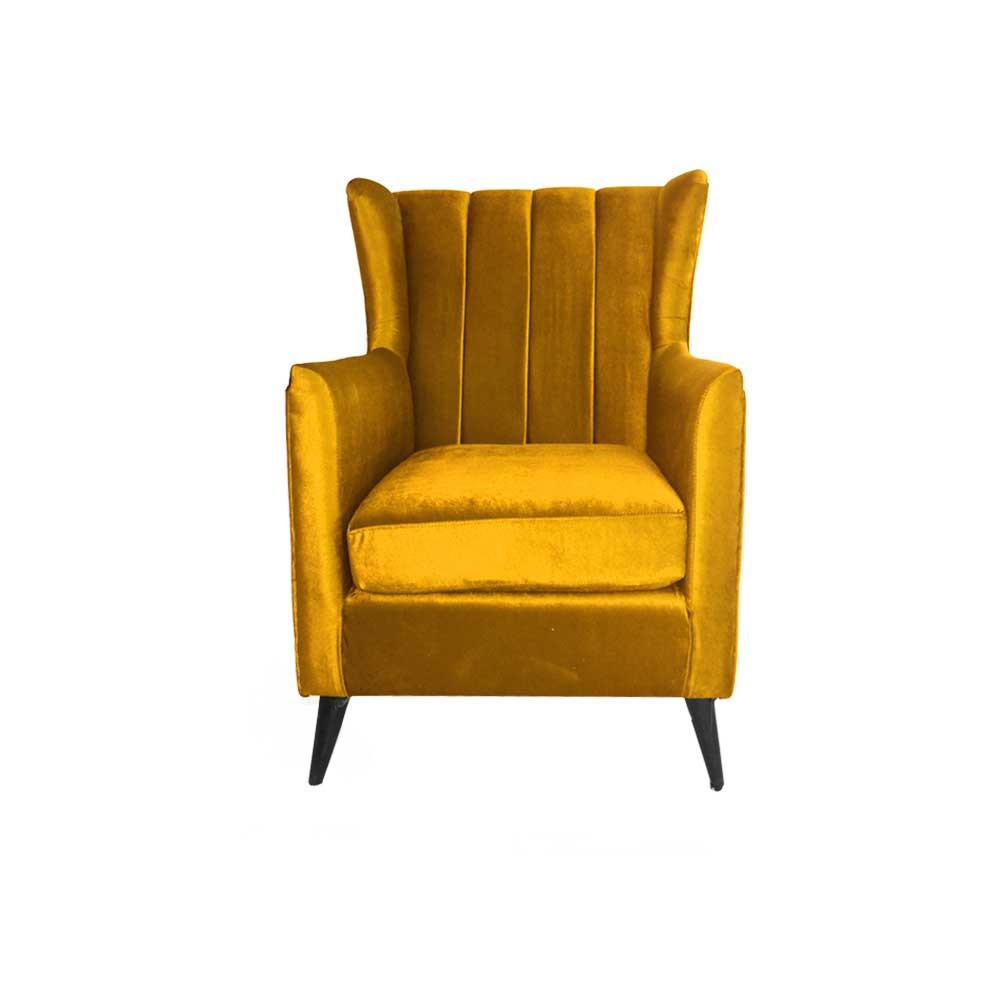 Betty Wing Chair Yellow