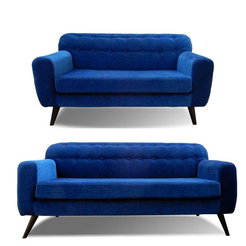 Boise Sofa Set Blue 3+2