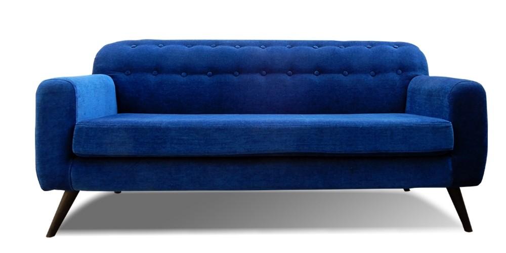 Boise Three Seater Sofa Blue