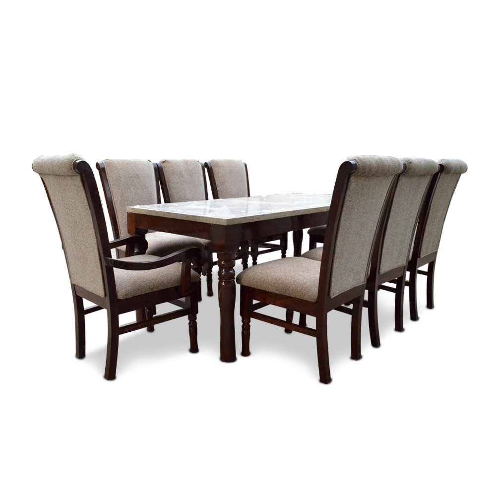 bon appetite 8 seater dining with marble top 8 seater. Black Bedroom Furniture Sets. Home Design Ideas