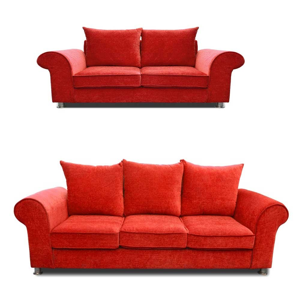 Canberra Sofa Set Red 3+2