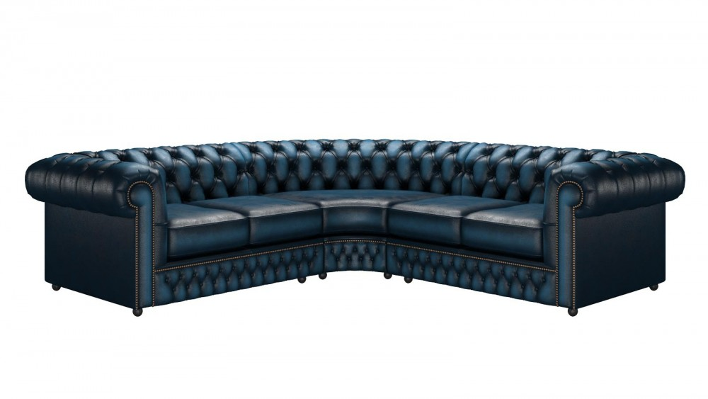 caribbean chesterfield Blue