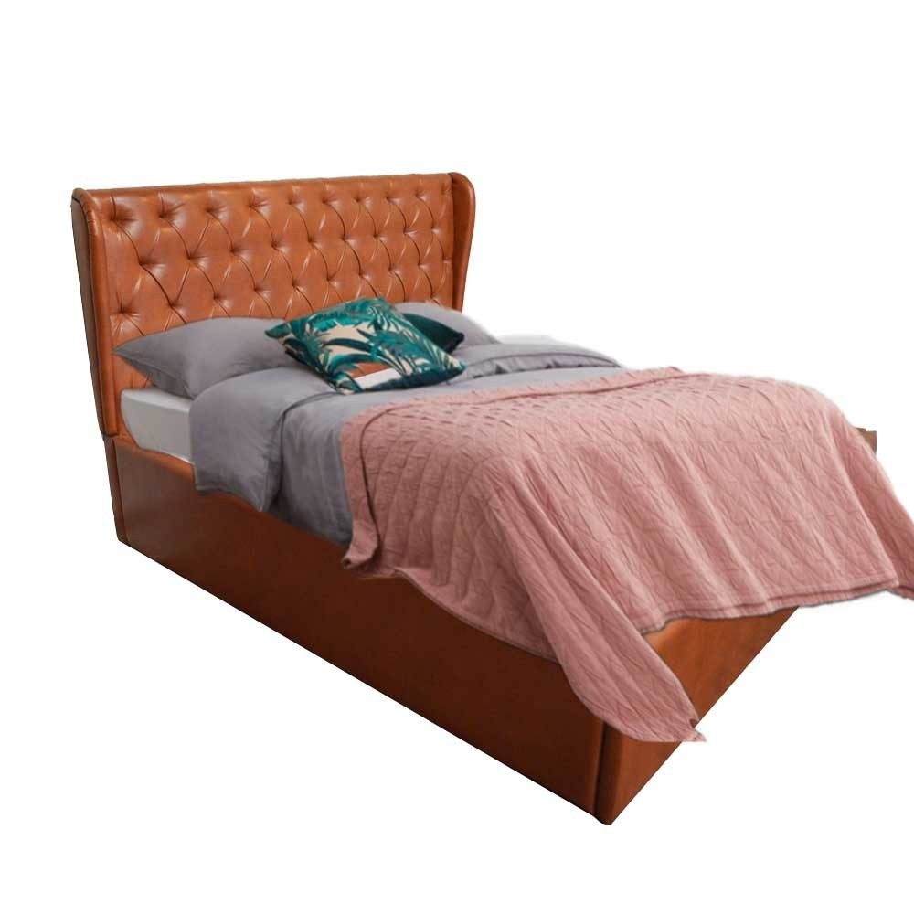Darcy Upholstered Bed King Tan