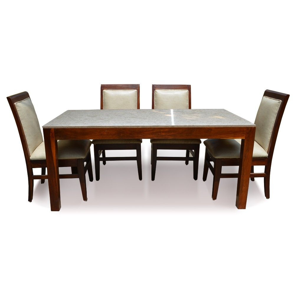 Sophie 6 Seater Dining Table Set with Marble Top