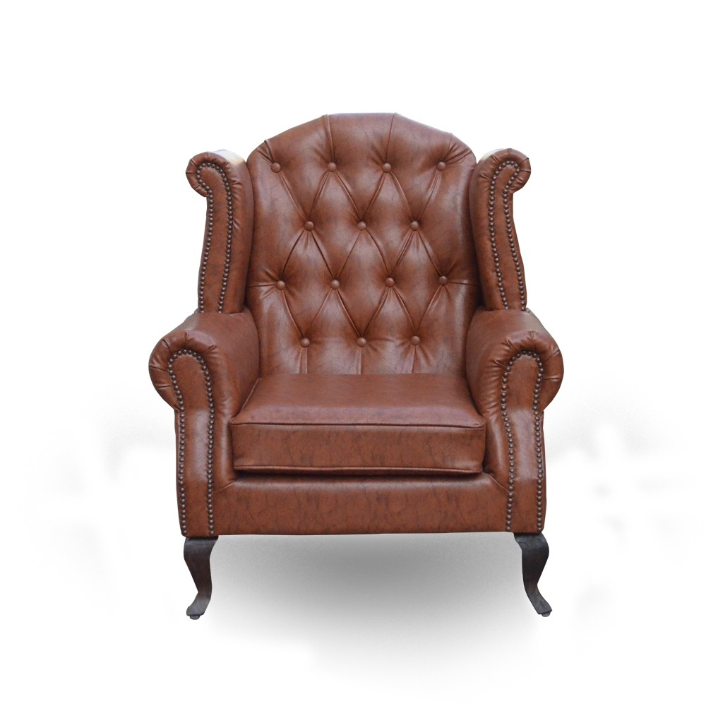 Juliet Armchair Leatherette2 Brown