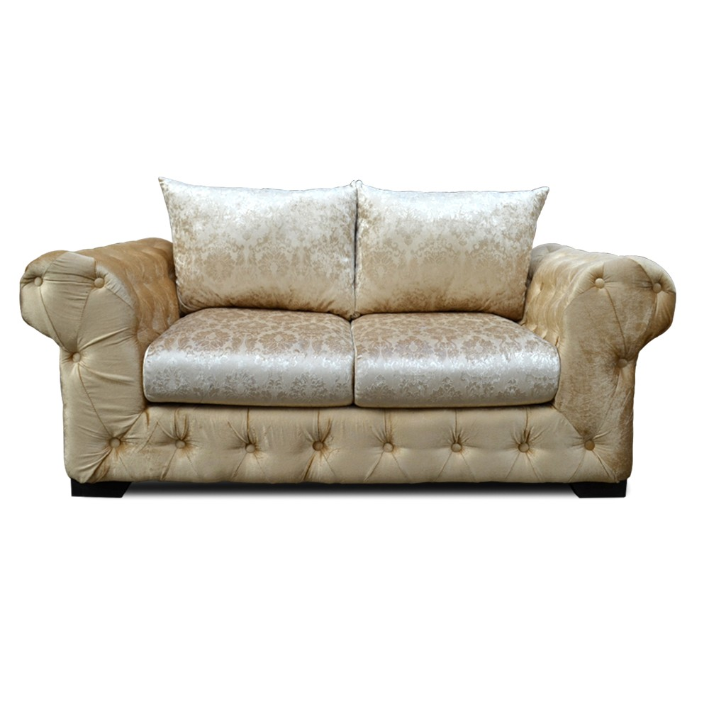 Emily 2 Seater sofa gold