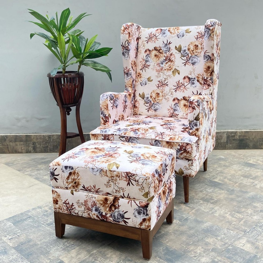 Empress High Back Chair with Footrest