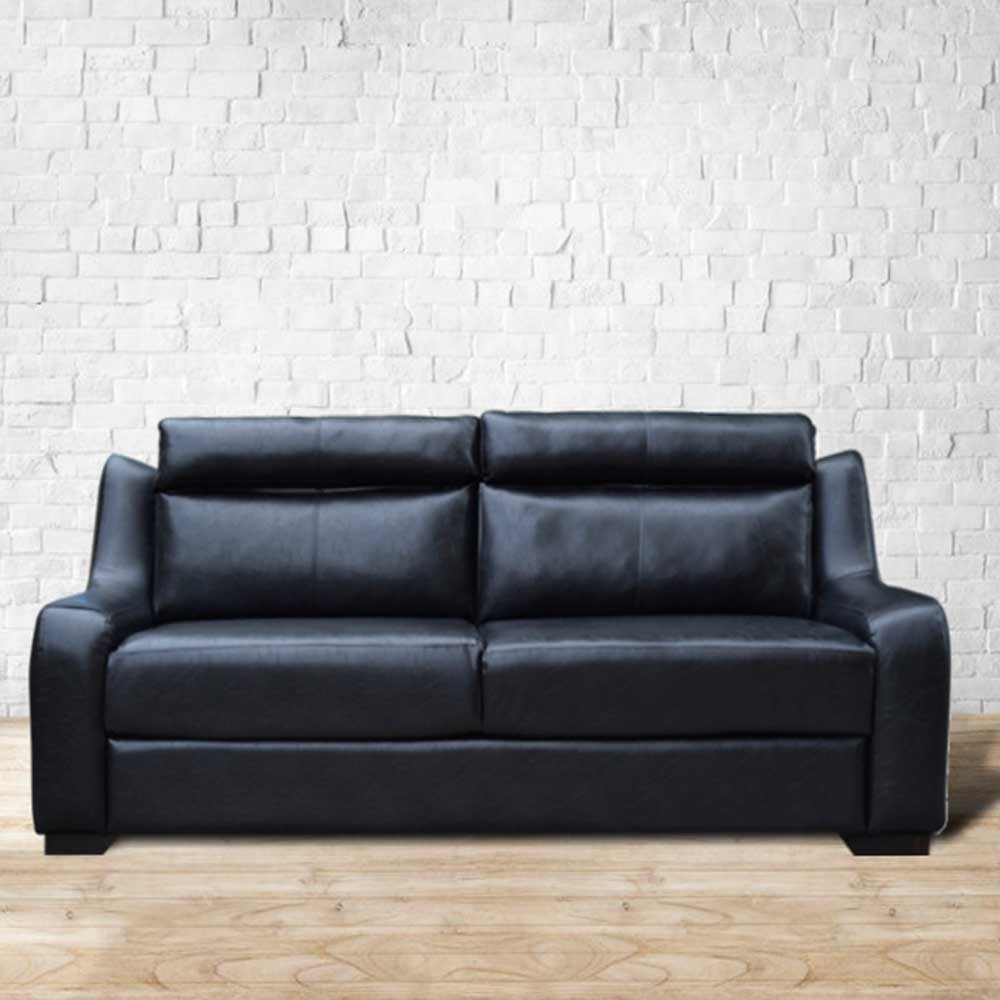 Garcia Three Seater Sofa Black leatherette