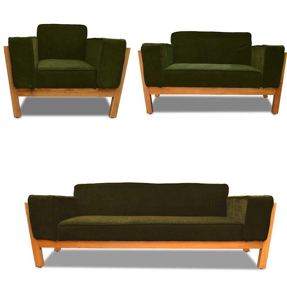 Woodard Sofa Set Mehandi 3+2+1