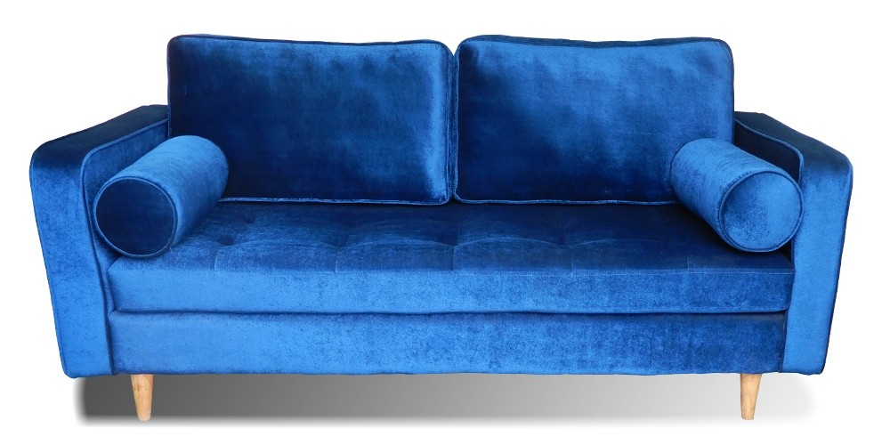 Holly Sofa Three Seater Sofa Blue