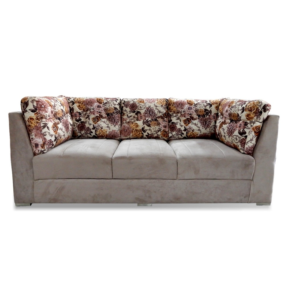 Houston Three Seater Sofa Gray Printed