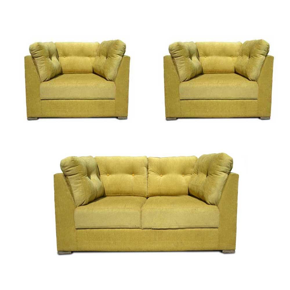 Houston Sofa Set mahandi green4