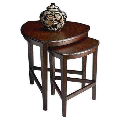 Ivy 2 Piece Nesting Tables Brown