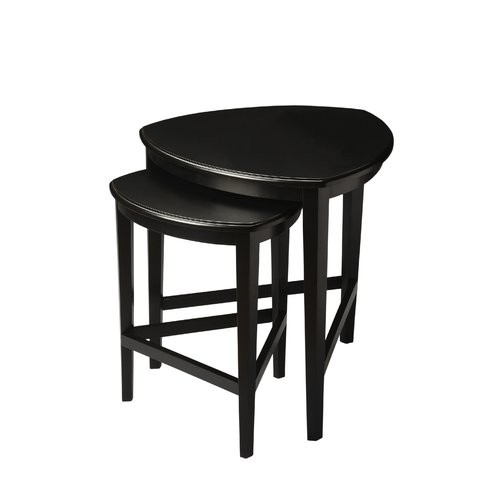 Ivy 2 Piece Nesting Tables Black