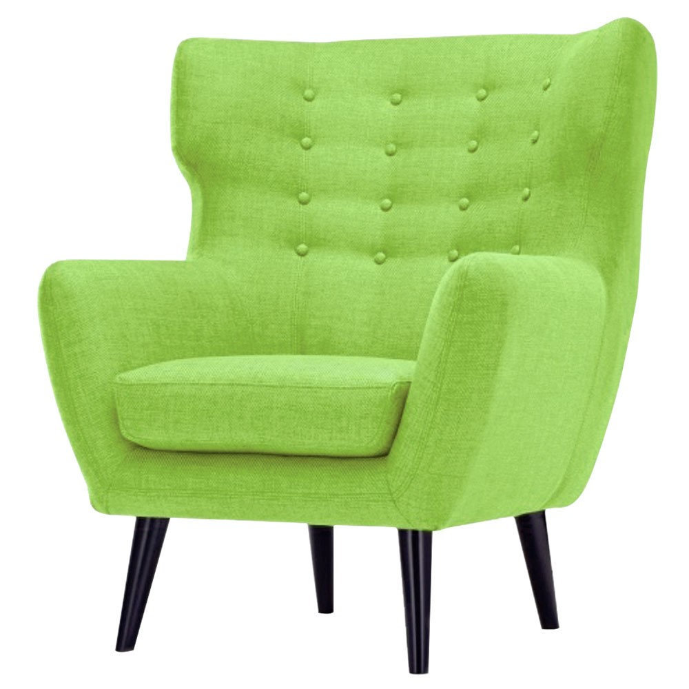 Lara Wing Back Chair Green Olive