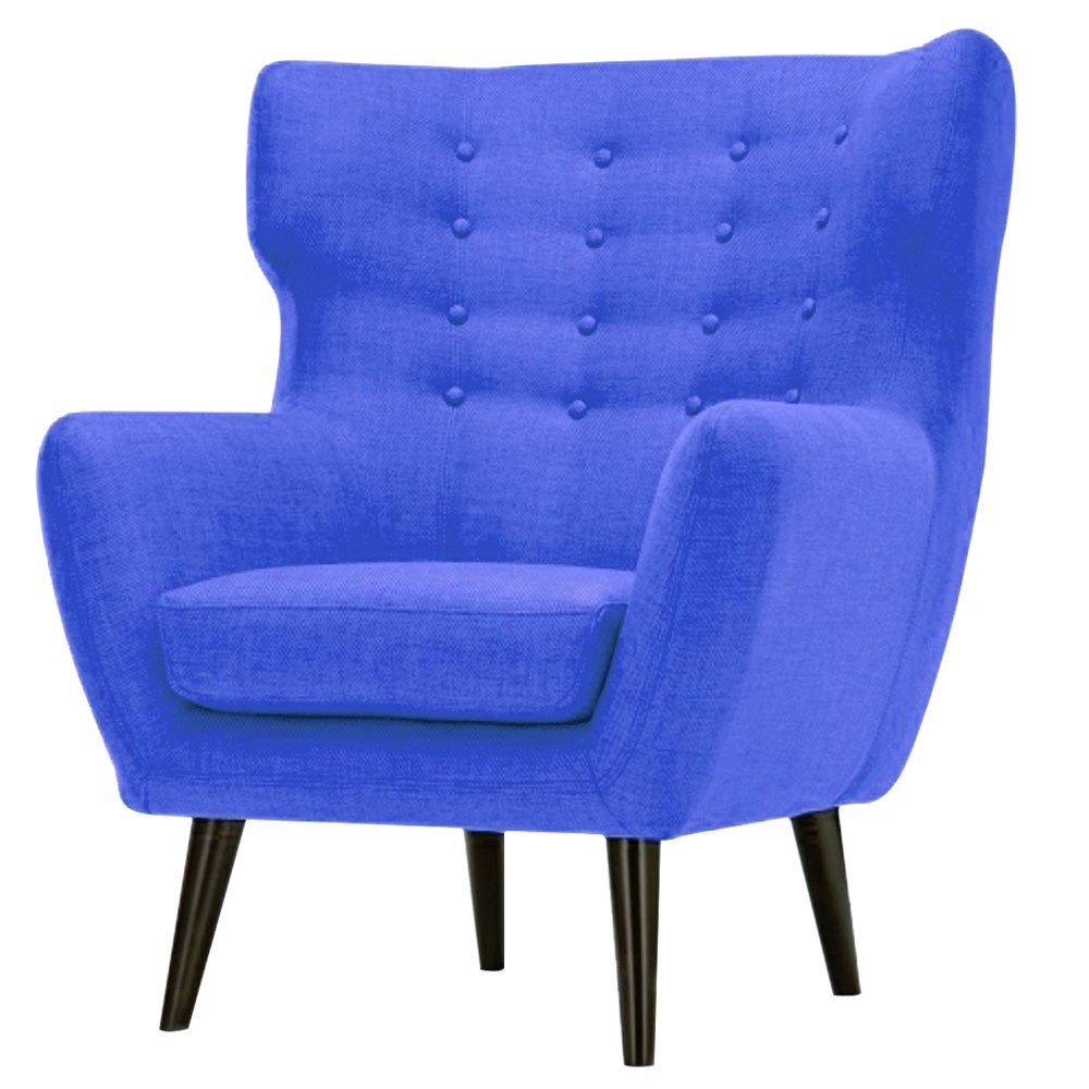Lara Wing Back Chair Blue