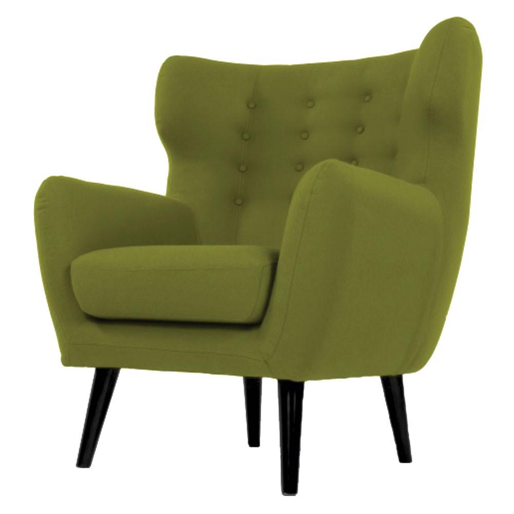 Lara Wing Back Chair Green