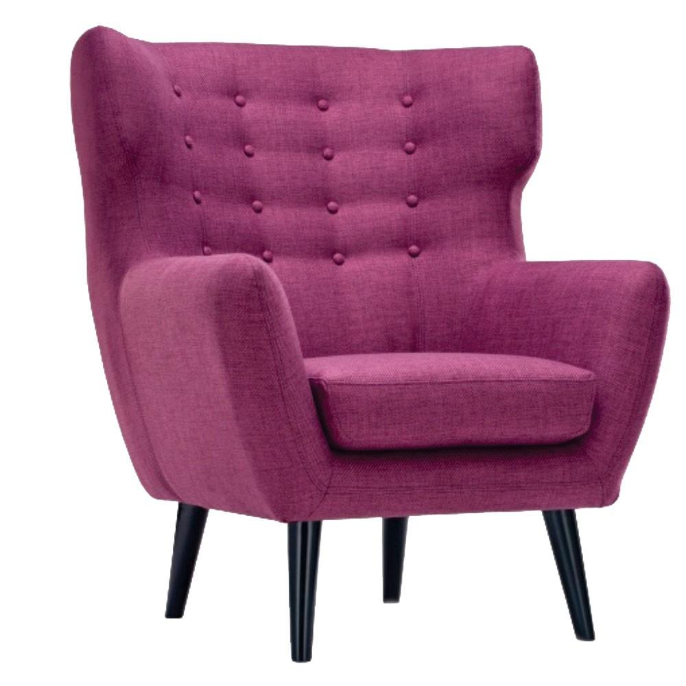 Lara Wing Back Chair purple