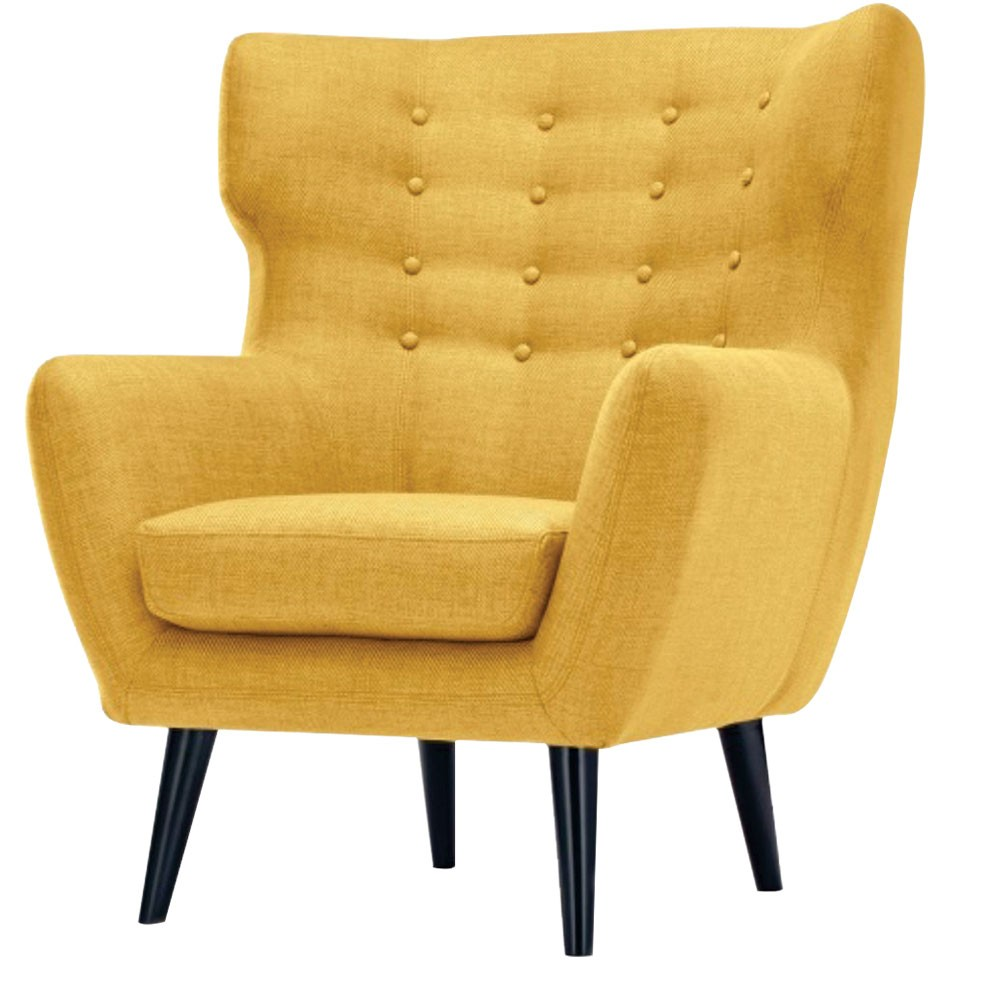 Lara Wing Back Chair Yellow
