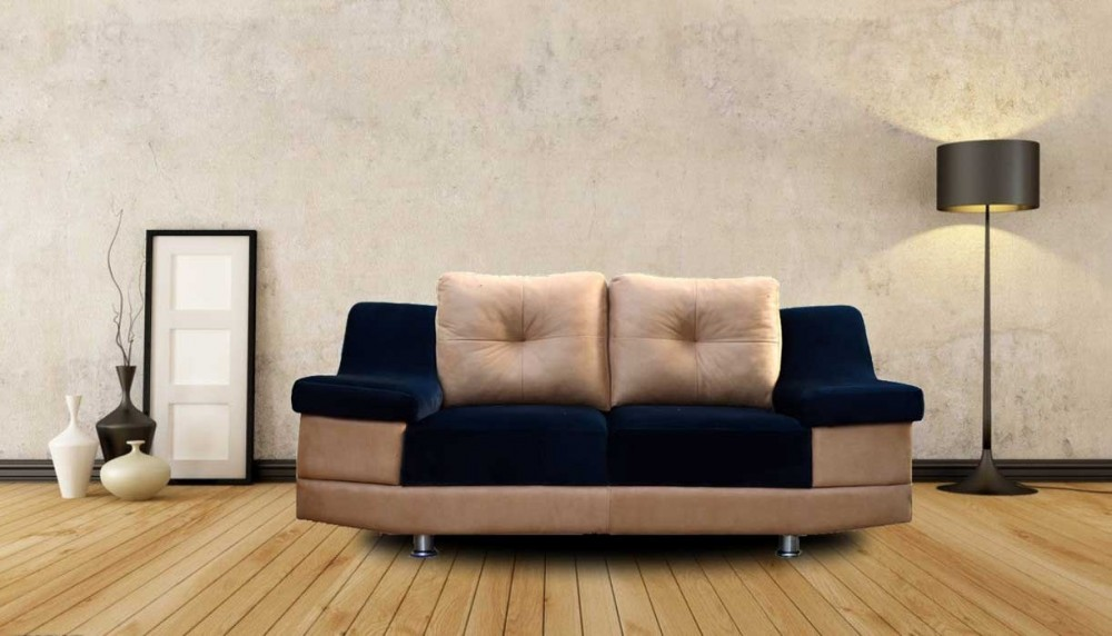 Monroe Two Seater Sofa Black