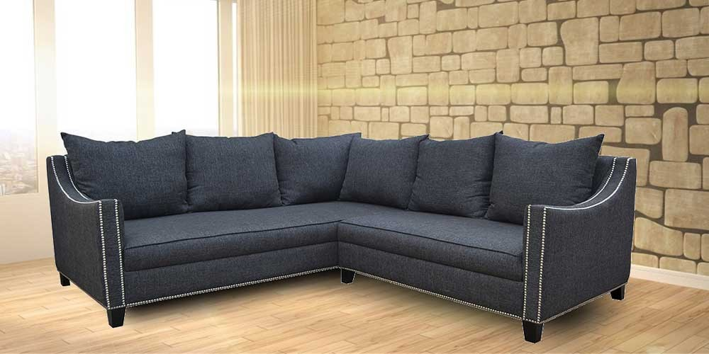 New Yorker Sectional Sofa Drak gray