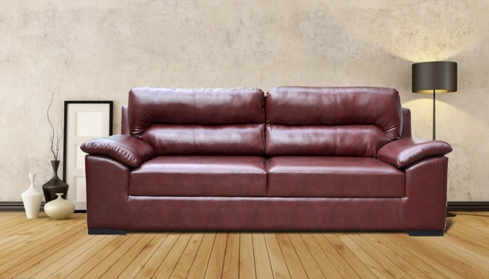 Open Arms Sofa Brown