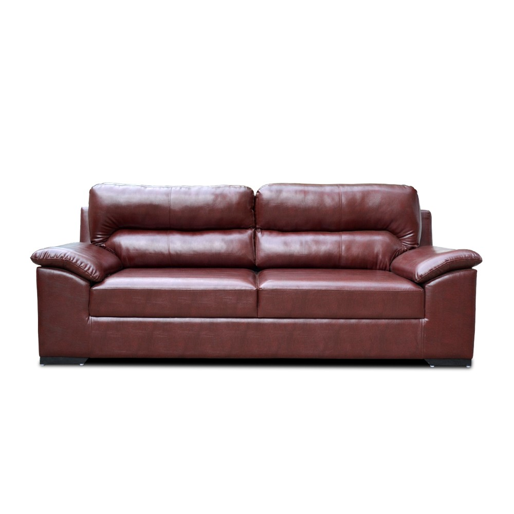 Open Arms Sofa Brown
