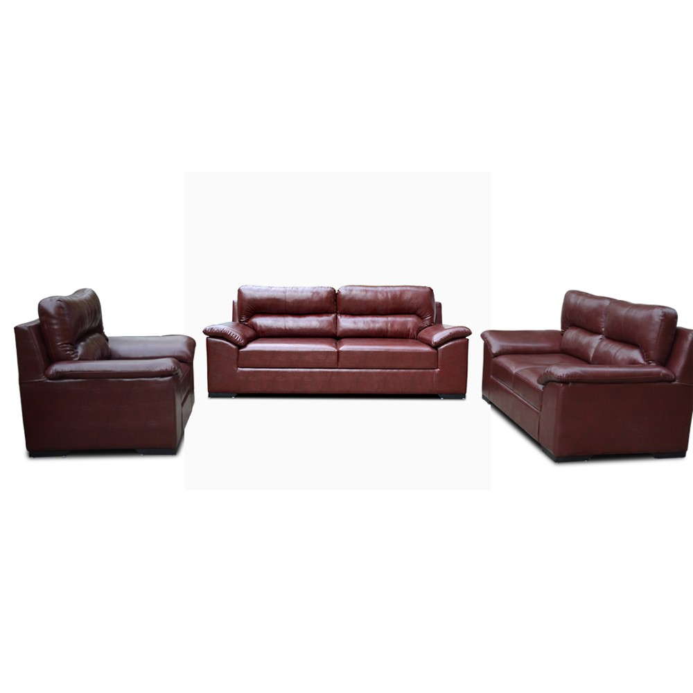 Open Arms Sofa Set Brown