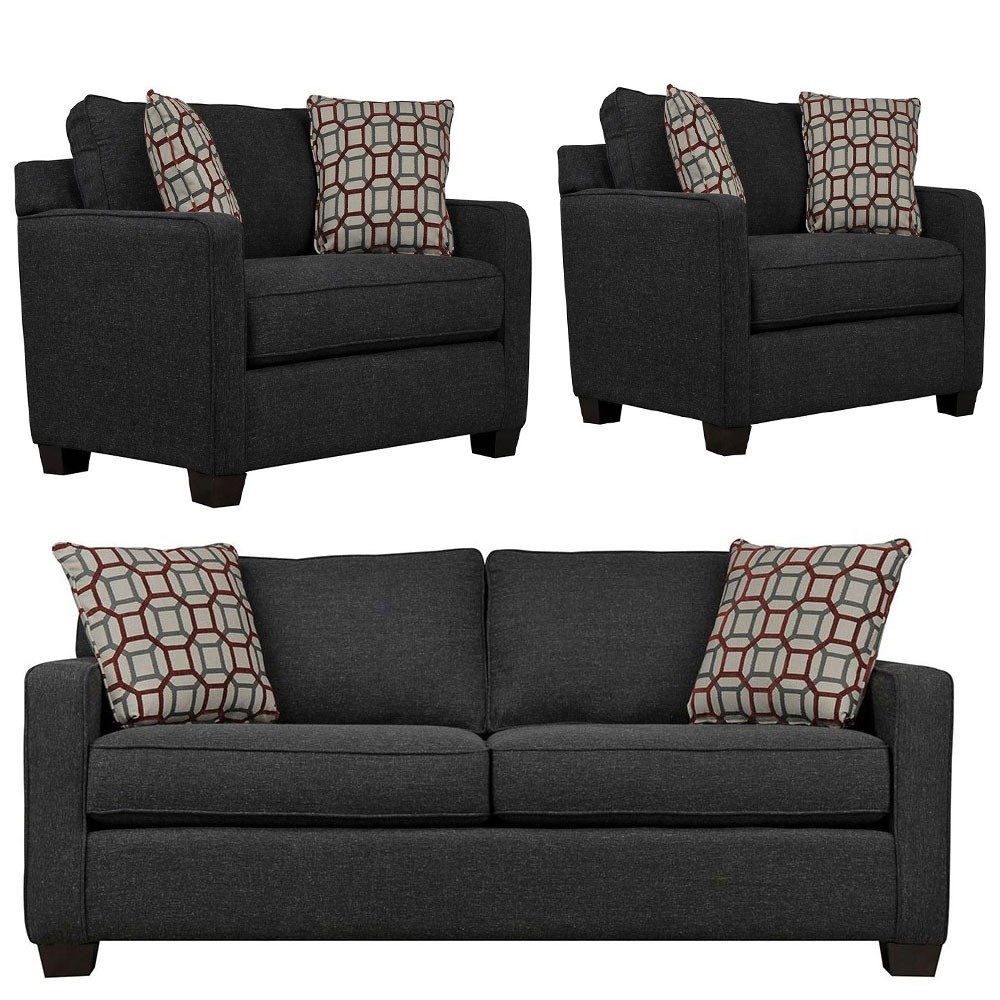 Oslo Sofa sets black 3+1+1