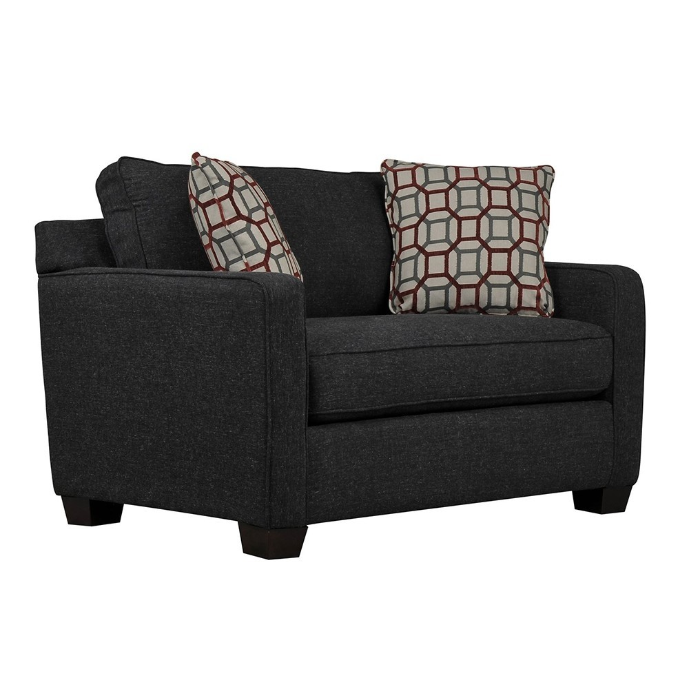 Oslo Two Seater Sofa Black