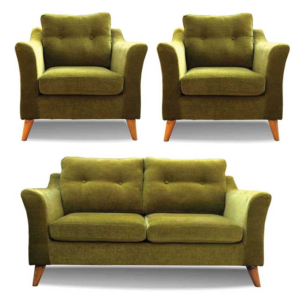 Rufus Sofa Set Green 2+1+1