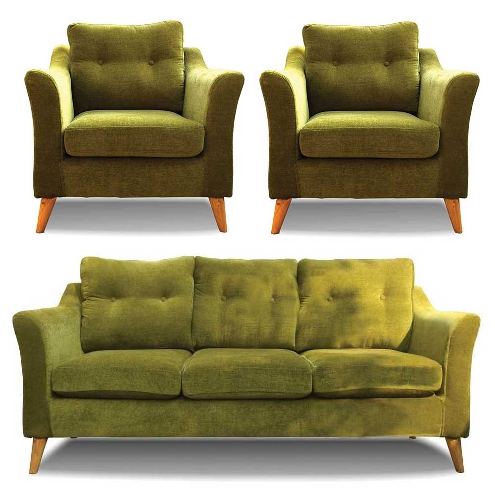 Rufus Sofa Set Green 3+1+1