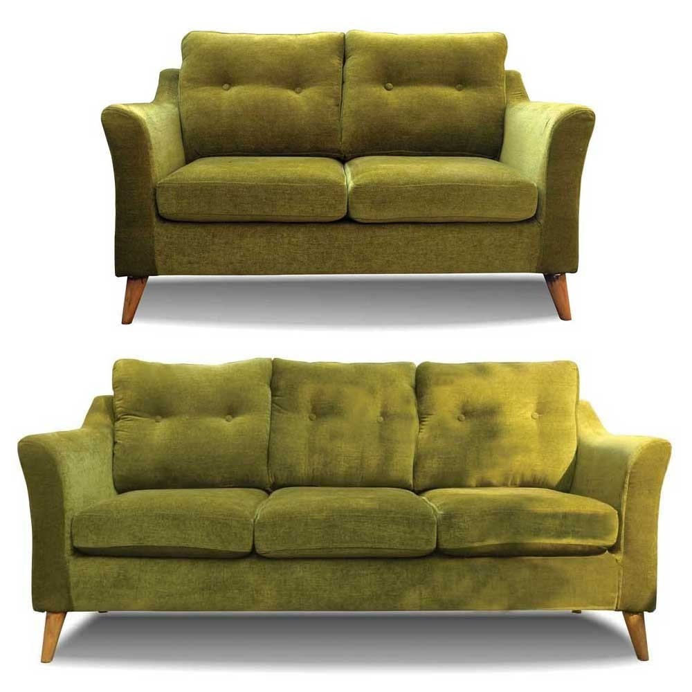 Rufus Sofa Set Green 3+2