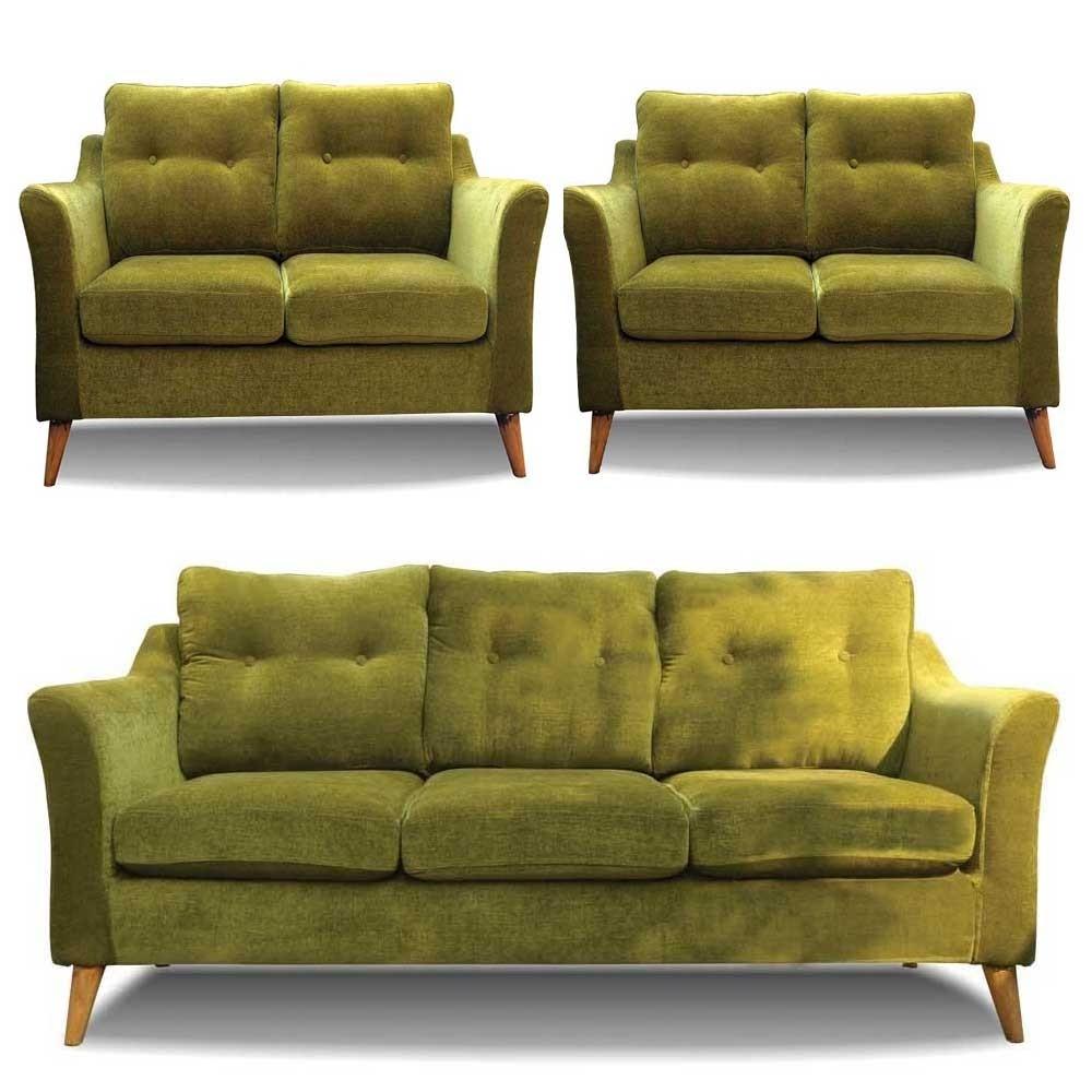 Rufus Sofa Set Green 3+2+2