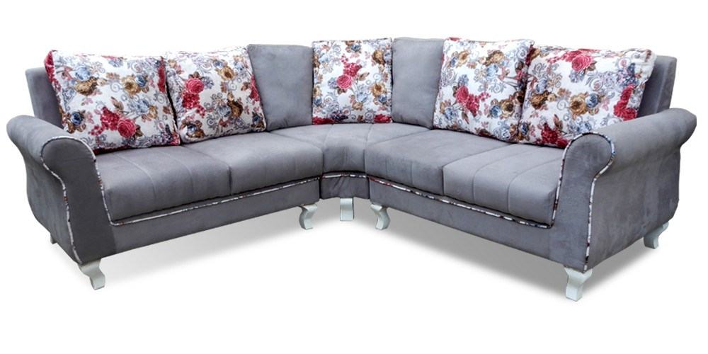 New Valentino Sectional Sofa Grey