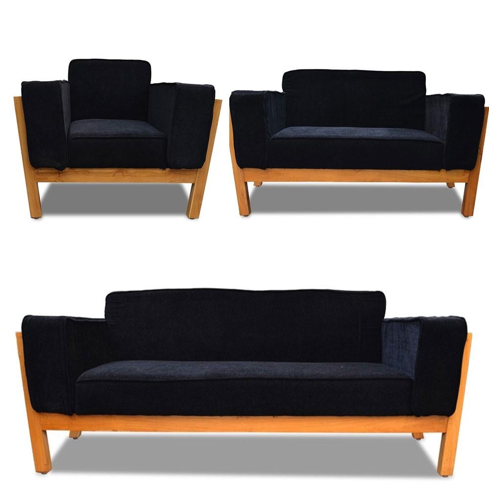 Woodard Sofa Set 3+2+1 Black