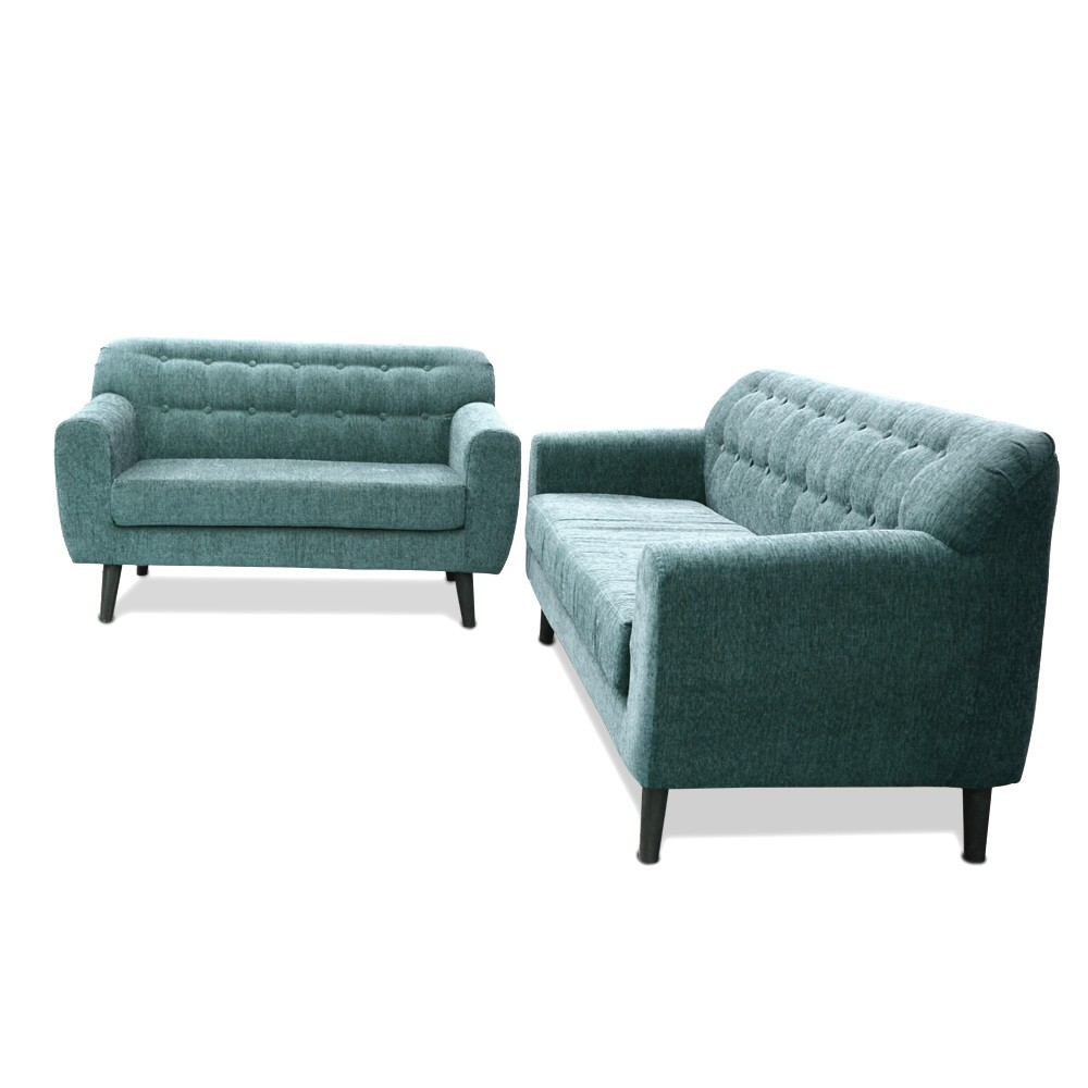 Boise Sofa Set cutty sark Green 3+2