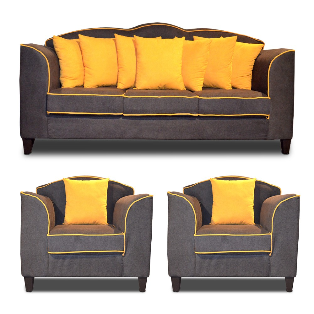 Yellow Sofa Set 3+1+1