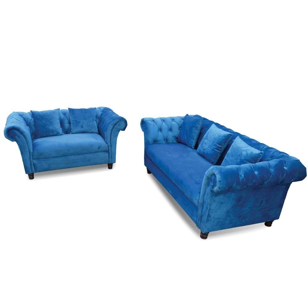 Laura Chesterfield Sofa Set 3+2