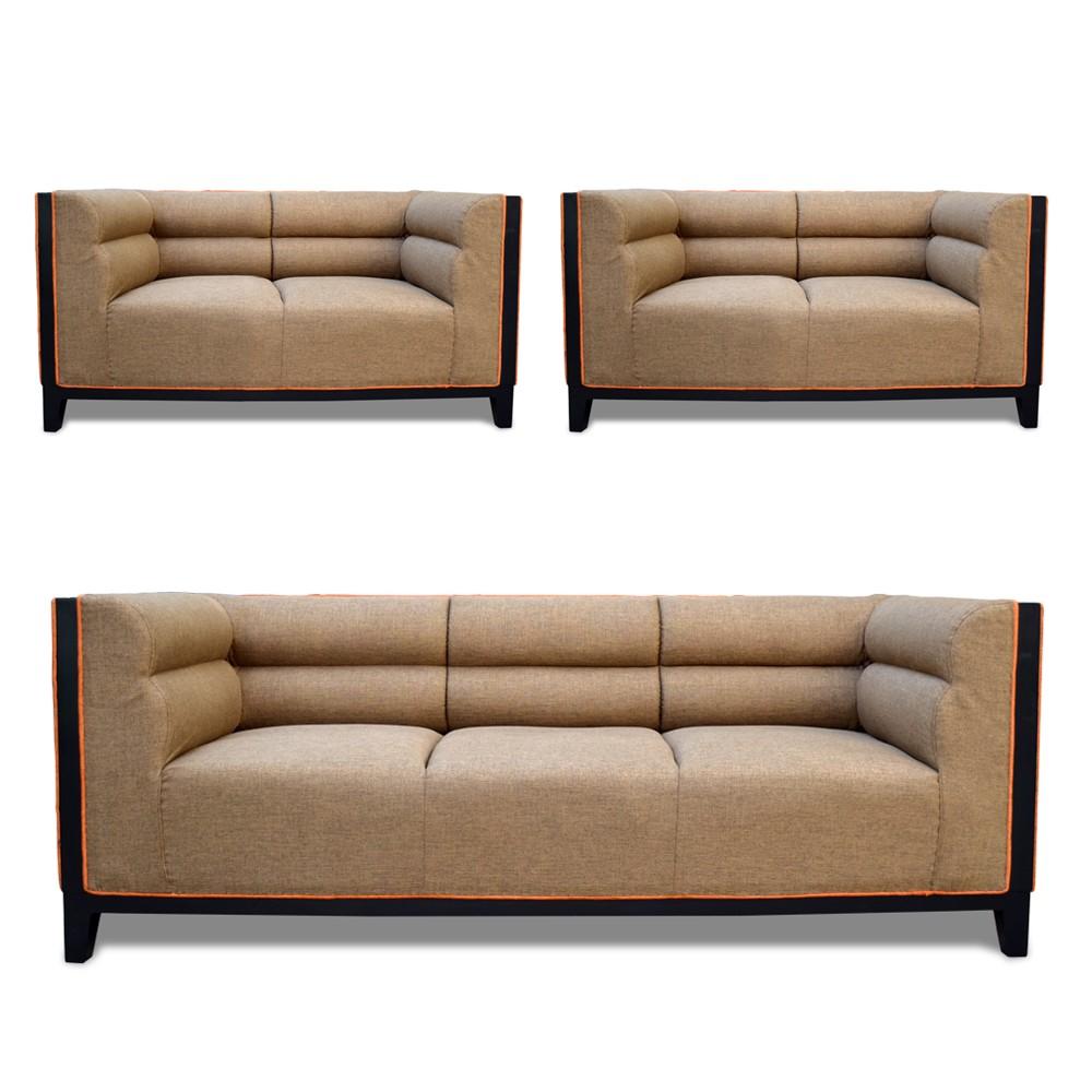Abraxas Sofa Set Badami 3+2+2