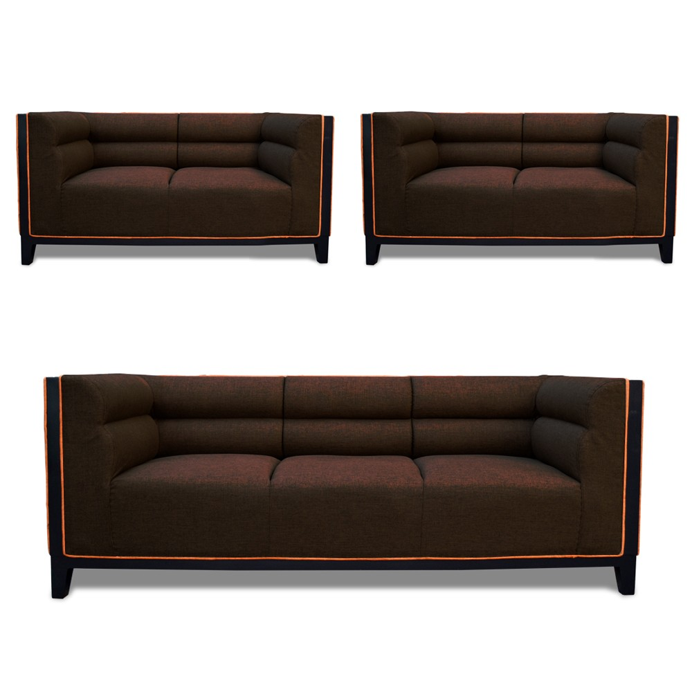 Abraxas Sofa Set Drak Brown3+2+2
