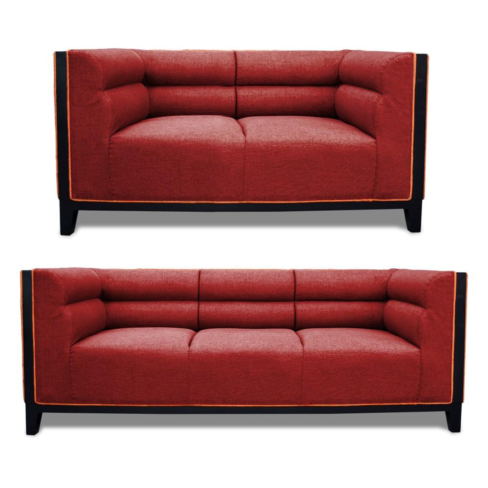 Abraxas Sofa Set Maroon 3+2