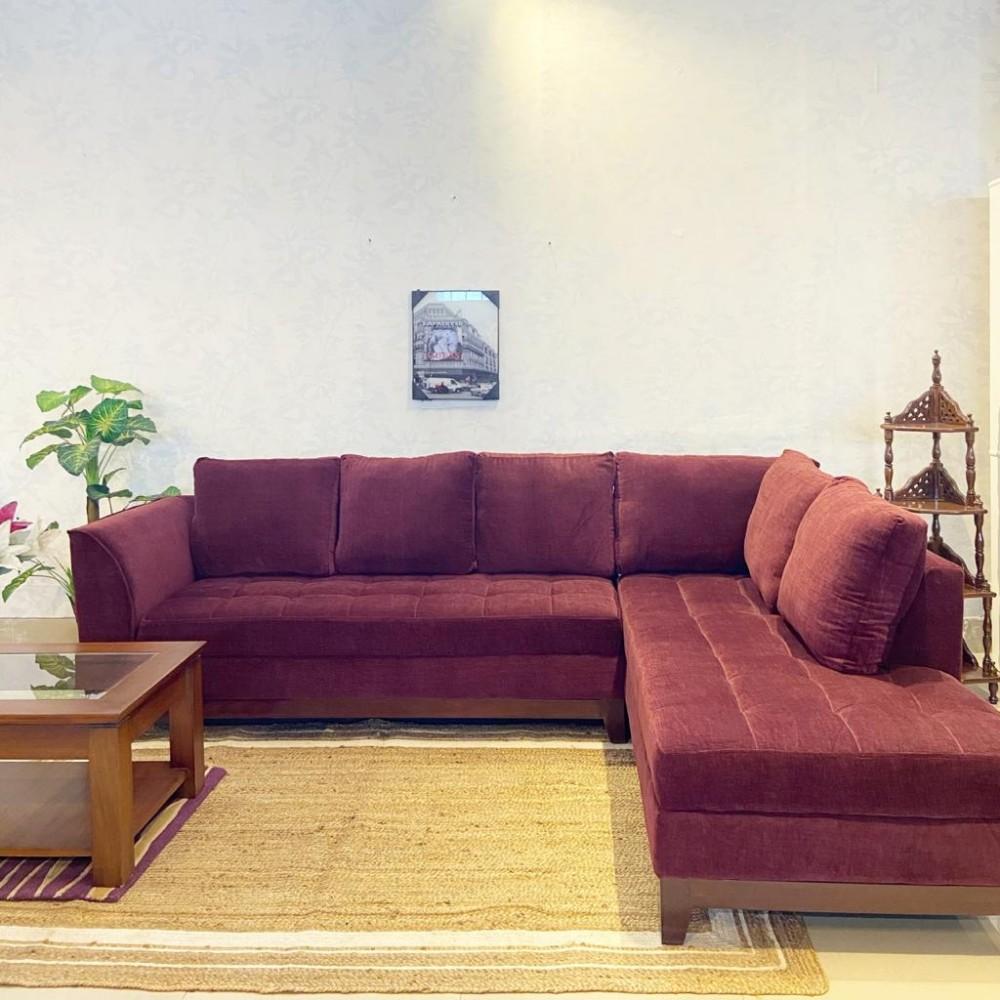 Urbane Sectional Sofa purple